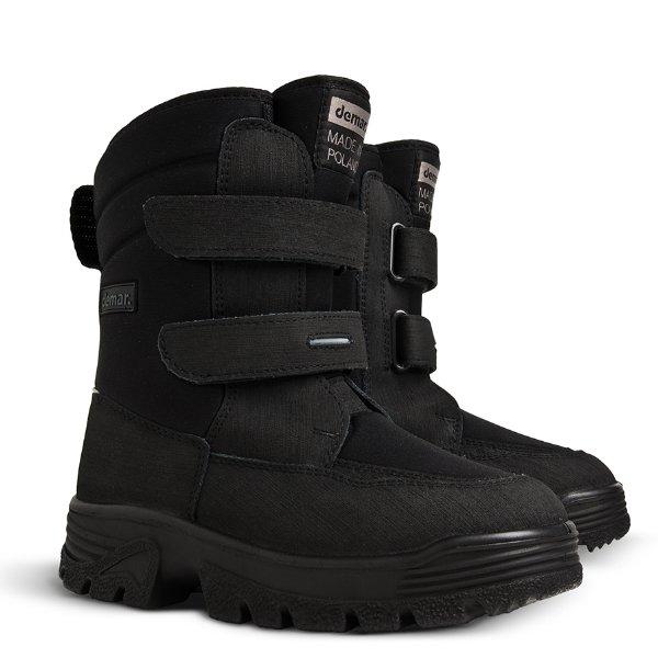 f3432d204 Зимние ботинки Demar Matti 1602 C для мальчиков, модель черного цвета на  липучках