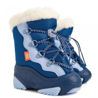 1b6a0e558 Зимние детские сапожки дутики Demar Snow Mar синего цвета для ...